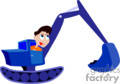 heavy equipment construction tractors tractor front loader   transport_04_095 clip art transportation land