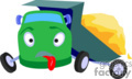 heavy equipment construction truck trucks dump broken   transport_04_145 clip art transportation land  gif