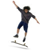 Teen Doing a Kick Flip on his Skateboard vector clip art image