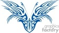 blue butterfly with a bird like face design