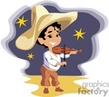 cinco de mayo boy playing violin wearing a sombrero