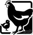vector vinyl-ready vinyl ready black white animals animal farming farm rooster roosters gif, png, jpg, eps