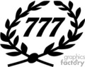 lucky 777 wreath