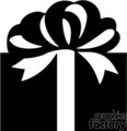 Big Black and White Gift with a Very Large Bow