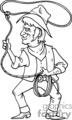 cartoon cowboy roper