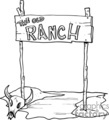 the old ranch western sign