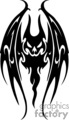 Black and white evil looking bat, forward facing