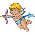 Baby cupid waiting to shoot