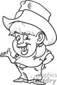 a chubby little cow girl with missing teeth and her belly hanging out wearing a cowboy hat gif, png, jpg, eps