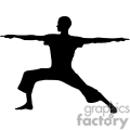silhouette of a women doing yoga
