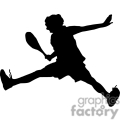 silhouette of a person playing tennis