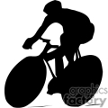 silhouette of person riding a bike