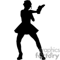 silhouette of a girl holding a gun