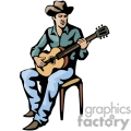 western cowboy cowboys vector wild west guitar guitars music gif, png, jpg, eps