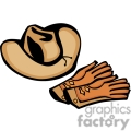 A Leather Cowboy Hat and Leather Riding Gloves