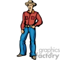 A Cowboy Standing with his Hand in his Pocket and his Eyes Shut