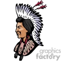 indian indians native americans western navajo chief chiefs headpiece head face vector eps jpg png clipart people gif gif, png, jpg, eps