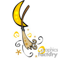 Whimsical witches broom stick