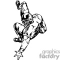 Football player getting tackled 077
