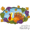 Festive Turkey vector clip art image
