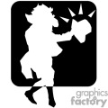 a black and white nanny goat dancing a jig gif, png, jpg, eps