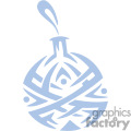 Light Blue Ornate Christmas Bulb