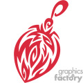 Single Red Ornate Christmas Decoration