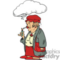 Red hat society lady smoking a cigarette