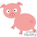 Cartoon pig looking surprised
