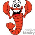 happy baby lobster in red