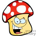 smiling mushroom cartoon gif, png, jpg, eps, svg, pdf