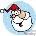 santa head in front of blue circle with stars gif, png, jpg, eps, svg, pdf