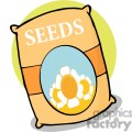 Bag of gardening seeds