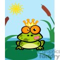 Frog prince in pond