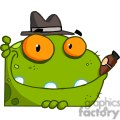 green frog with orange eyes and a cigar in its mouth gif, png, jpg, eps, svg, pdf