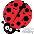 Royalty Free Ladybug Cartoon Character