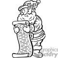 Santa checking his naughty and nice list