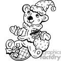 christmas bear gif, png, jpg, eps, svg, pdf