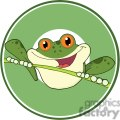 Cartoon-Happy-Red-Eyed-Blue-Tree-Frog-In-Circle