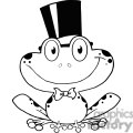 Cartoon-Groom-Frog-Character-BW