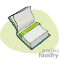 cartoon textbook with bookmark gif, png, jpg, eps, svg, pdf