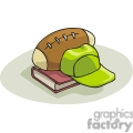 Cartoon sports equipment and book