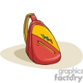 cartoon backpack with one strap gif, png, jpg, eps, svg, pdf