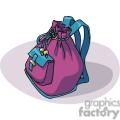 Cartoon purple school backpack