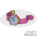 Cartoon purple watch