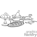 food on a table outline gif, png, jpg, eps, svg, pdf