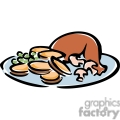 chicken dinner plate gif, png, jpg, eps, svg, pdf