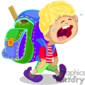 boy crying on his first day of school