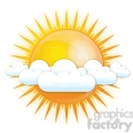 vector sun partly cloudy