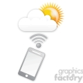 mobile sunny cloud data gif, png, jpg, eps, svg, pdf